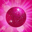 Royalty-Free Stock Vector Image: Abstract pink disco ball background