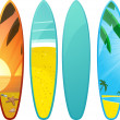 Stock Vector: Surfboards