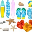 Royalty-Free Stock Vector Image: Beach and tropical elements