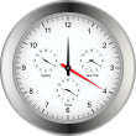 World time zone clock — Stock Vector