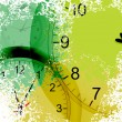 Vector de stock : Grunge clocks