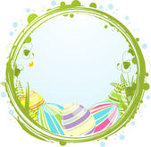Easter eggs and border — Stock Vector