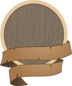 Dřevěný štít s lanem — Stock vektor