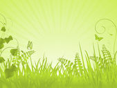 Green tranquil spring background — Stock Vector