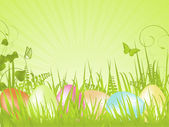 Green tranquil easter background — Stock Vector