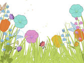 Spring florals — Stock Vector