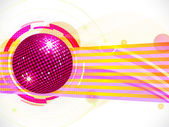 Abstract pink disco ball background — Stock Vector