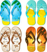 Flipflops — Vector de stock