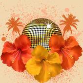 Tropical disco ball — Stock Vector