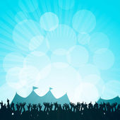 Festival and crowd — Vector de stock