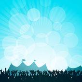 Festival y multitud — Vector de stock