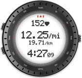 Fitness horloge en hartslagmeter — Stockvector