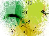 Grunge clocks — Stock Vector