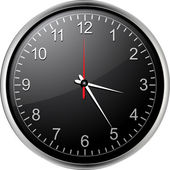 Black clock — Stock Vector