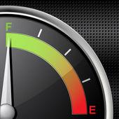 Full fuel gauge — Stock Vector