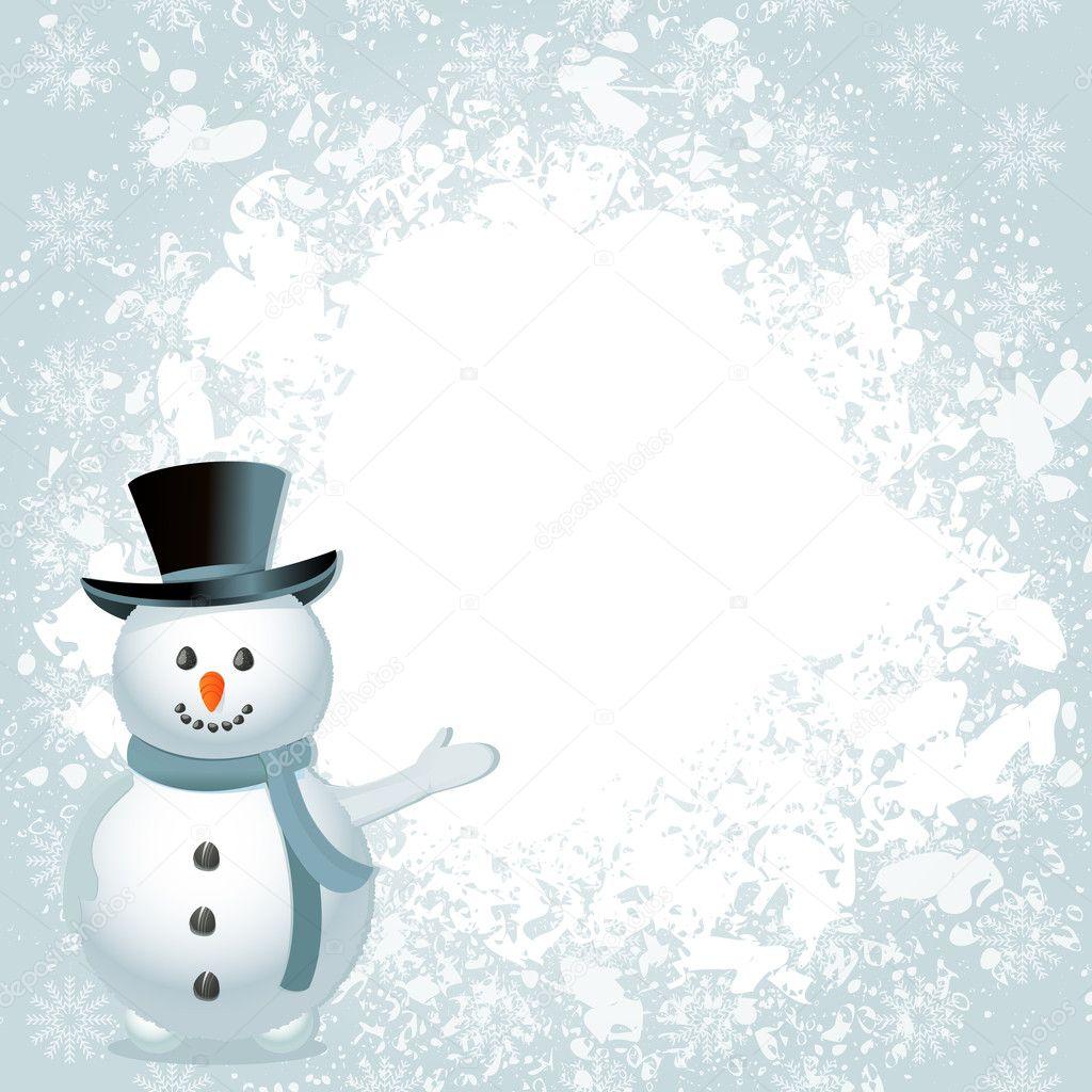 Christmas snowman background — Stock Vector © elaineitalia #7657751
