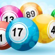 3d bingo or lottery ball background — Stock Vector #7660060