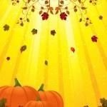 Autmn flourish and pumpkins — Stock Vector #7660376
