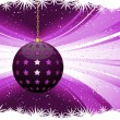 Stock Vector: Purple Christmas bauble background