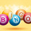 3d bingo background — Stock Vector