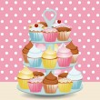 Royalty-Free Stock Vector Image: Cupcake stand