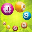 Jackpot on green starburst — Imagen vectorial