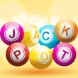 Jackpot background — Stock Vector