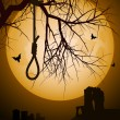 Halloween hangmans noose - Stockvectorbeeld