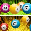 Stock Vector: Bingo ball lottery backgrounds