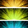 Abstract light explosion backgrounds — Stock Vector