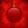 Glass christmas bauble background — Stock Vector
