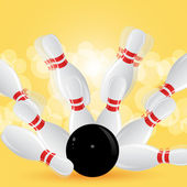 Dieci pin bowling — Vettoriale Stock