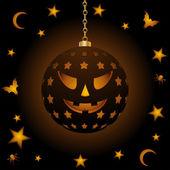 Halloween hanging lantern — Stock Vector