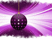 Purple Christmas bauble background — Stock Vector