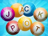 Jackpot lottery bingo balls — Stock Vector