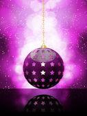 Zářící fialové Vánoční cetka — Stock vektor