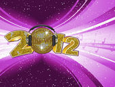 New year disco light explostion 2012 — Stock Vector