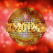 2012 glowing disco ball — Stock Vector