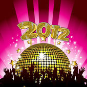 2012 disco party — Stock Vector