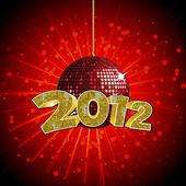 2012 disco ball — Stock Vector