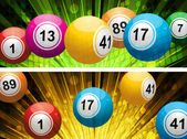 Bingo ball lottery backgrounds — Stock Vector