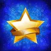 Fondo estrellas oro celebración — Vector de stock