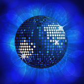 Disco ball background blue — Stock Vector