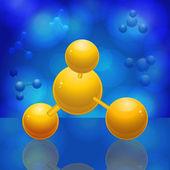 3d molecule — Stock Vector