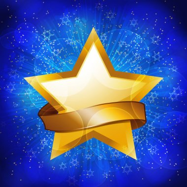Gold celebration star background