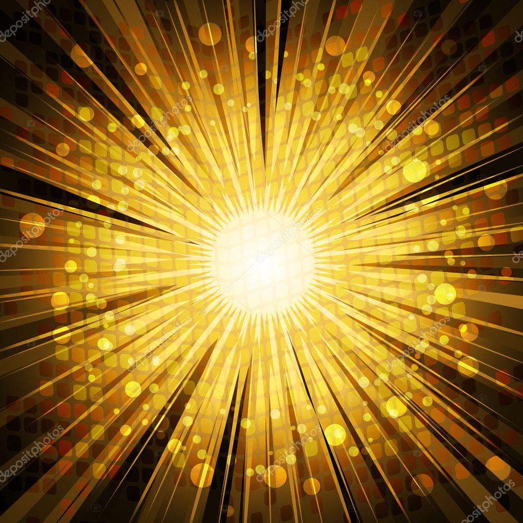 Gold starburst png