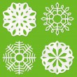 Paper snowflakes — Stock Vector #7714636