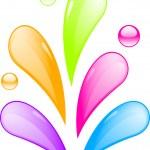 Colourful liquid splash — Stock Vector