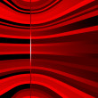 Red curving background — Stock Vector