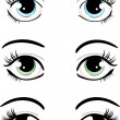 Stock Vector: Eyes set